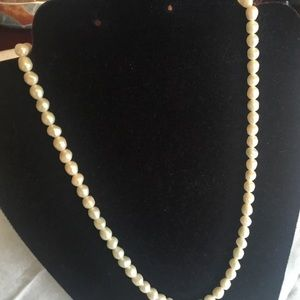 Goldtone Clasp Cultured Pearl Necklace